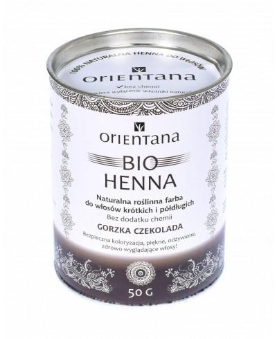 Bio Henna GORZKA CZEKOLADA do włosów półdługich i krótkich 50g ORIENTANA