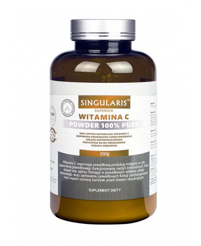 Witamina C powder 100% pure 500g SINGULARIS