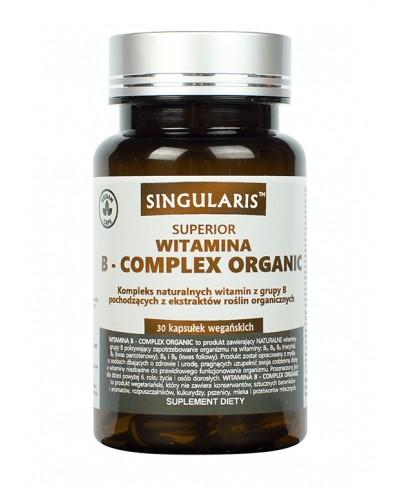 Witamina B complex organic 30 kaps. SINGULARIS