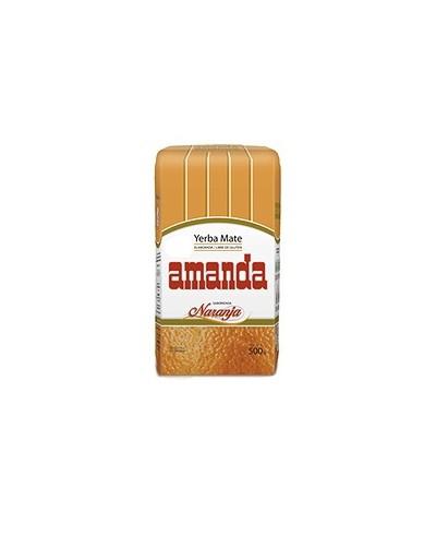Herbata sypana Yerba Mate z aromatem pomarańczowym AMANDA 500 g