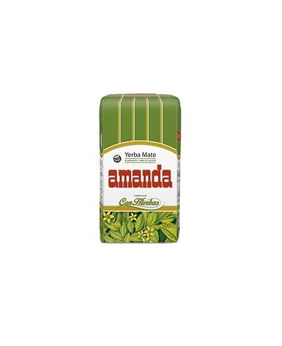 Herbata sypana Yerba Mate Hierbs z dodatkiem ziół AMANDA 500 g