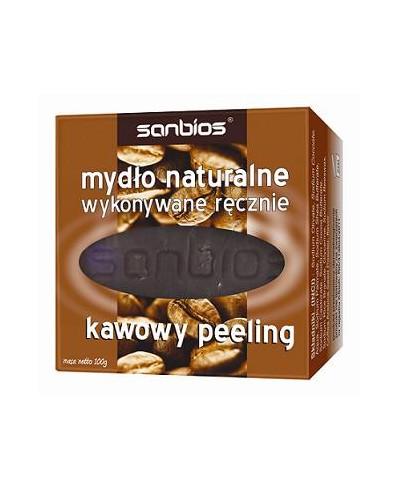 Mydlo naturalne wykonywane ręcznie kawowy peeling SANBIOS 100 g