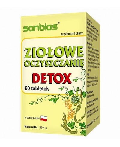 Ziołowe oczyszczanie detox SANBIOS 60 tabletek