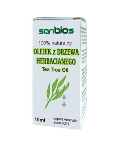 Olejek z drzewa herbacianego 100% naturalny SANBIOS 10 ml
