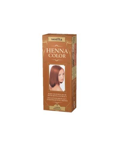 Balsam Koloryzujący 7 MIEDZIANY do włosów  Henna Color VENITA 75 ml
