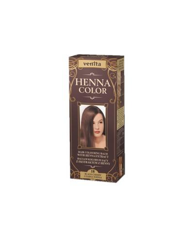 Balsam Koloryzujący 18 CZARNA WIŚNIA do włosów  Henna Color VENITA 75 ml