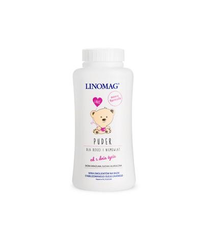 Puder pielęgnacyjny dla dzieci LINOMAG 100 g