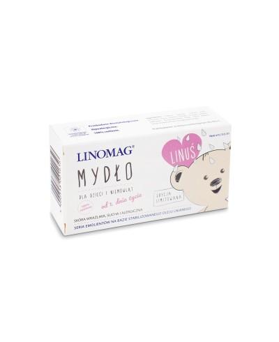 Mydło dla dzieci i niemowląt hipoalergiczne do skóry wrażliwej, suchej i alergicznej LINOMAG
