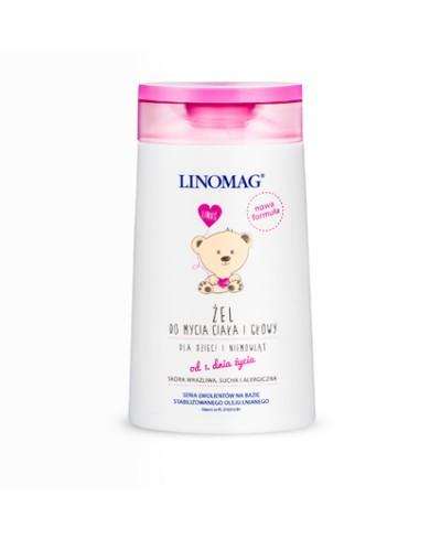 Żel dla dzieci i niemowląt do mycia głowy i ciała LINOMAG 200 ml