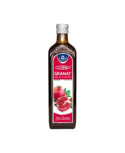 Sok naturalny 100% z granatu OLEOFARM 490 ml
