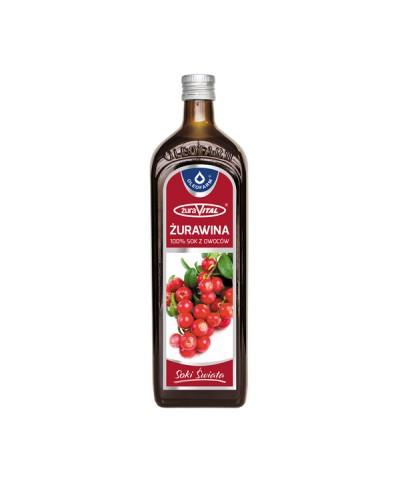 Sok naturalny 100% z żurawiny OLEOFARM 490 ml