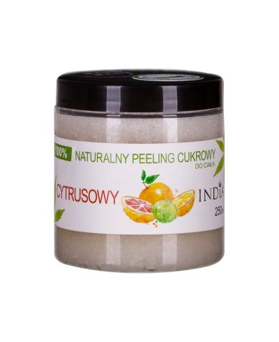 Peeling naturalny cukrowy cytrusowy INDIA 250 ml