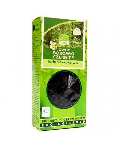 Herbatka ekologiczna ziele owoc borówki czernicy DARY NATURY 100 g