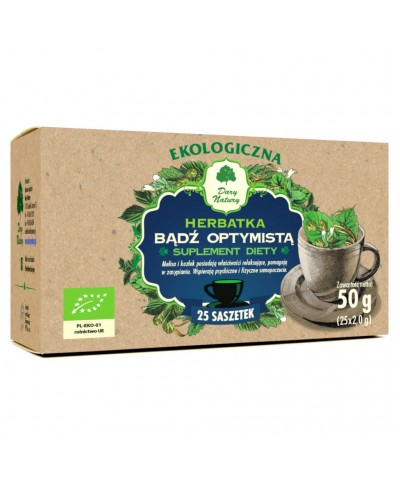 Herbatka ekologiczna ekspresowa bądź optymistą DARY NATURY