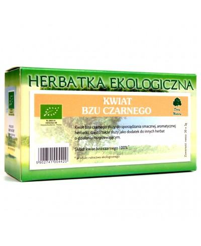 Herbatka ekologiczna ekspresowa czarny bez kwiat DARY NATURY