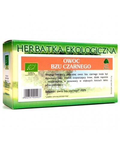 Herbatka ekologiczna ekspresowa czarny bez owoc DARY NATURY