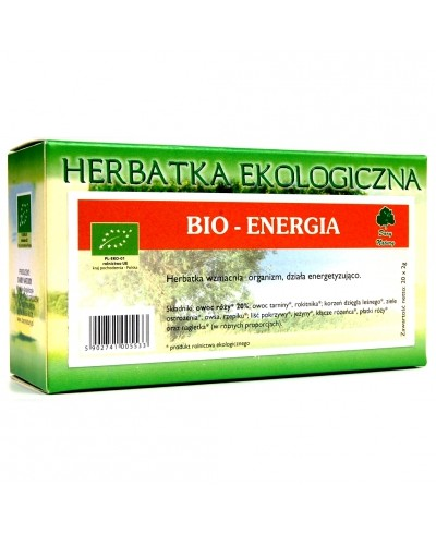Herbatka ekologiczna ekspresowa bio energia DARY NATURY