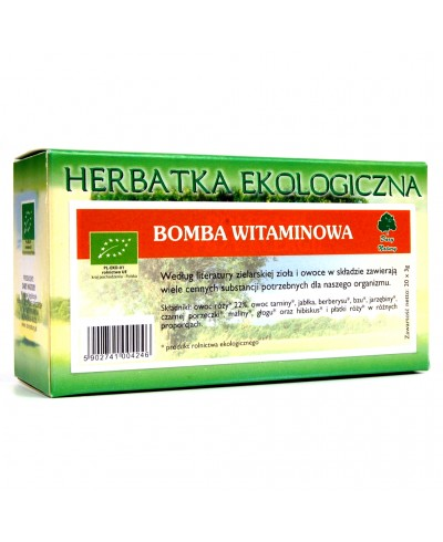 Herbatka ekologiczna ekspresowa bomba witaminowa DARY NATURY