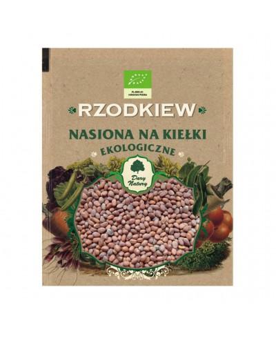 Nasiona ekologiczne na kiełki rzodkiew DARY NATURY 50 g
