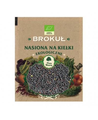 Nasiona ekologiczne na kiełki brokuł DARY NATURY 50 g