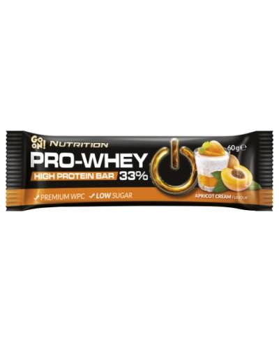 Baton proteinowy 33% bez cukru PRO - WHEY krem morelowy GO ON NUTRITION 60 g
