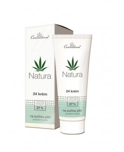Krem do skóry suchej i wrażliwej NATURA CANNADERM 75 g