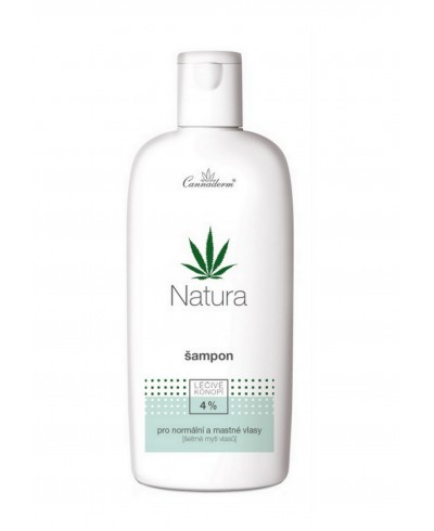 Szampon do włosów normalnych i przetłuszczających się NATURA CANNADERM 200 ml