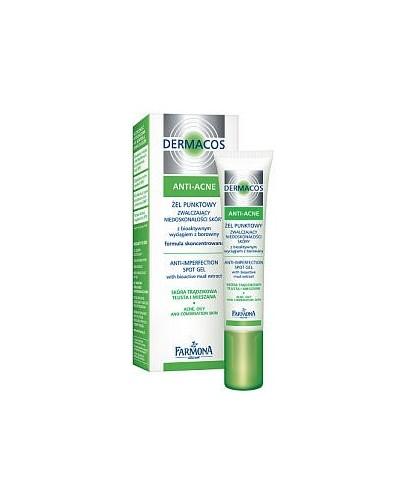 DERMACOS Żel punktowy zwalczający niedoskonałości skóry z bioaktywnym wyciągiem z borowiny