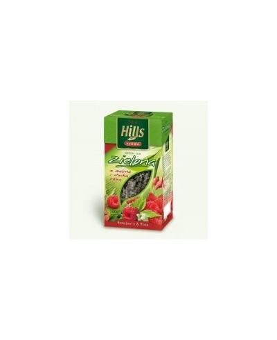 Herbata zielona pełnolistna z maliną i dziką różą